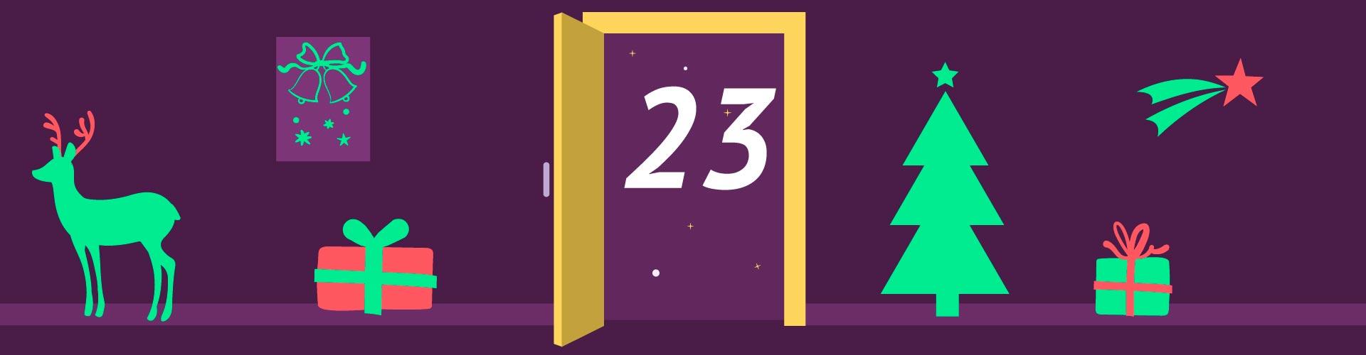 23 Türchen /  Plattenblick